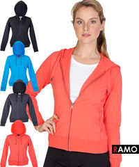 Ladies Spandex Fitness Hoodie with Logo Service