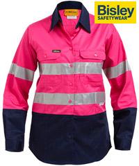 Pink Hi Vis Work Shirts-Mens and Womens