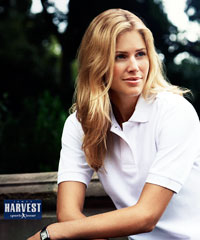 Harvest International- Womens Cotton Polo Shirts