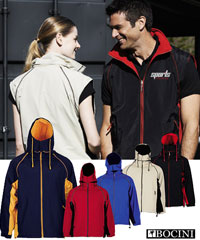 Bocini Zip Off Sleeve Bocini Jackets with Micro Fleece Lining
