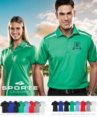 Sporte Leisure ZONE Polo Shirts in 8 Team Colours. Contrast Spliced panels on Sides, Shoulder Back and Front. Modern Fit. UPF Rating is Excellent.