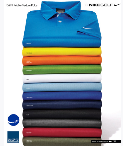Nike Pebble Polo Shirts With Corporate Logo Service